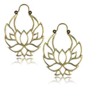 Lotus Outline Brass Clasps