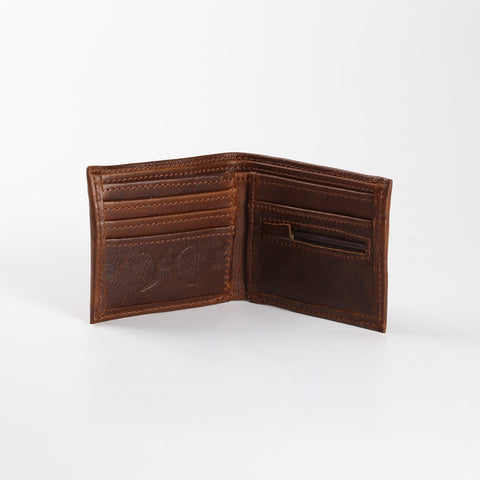Mens Wallet - Leather - Tabacco