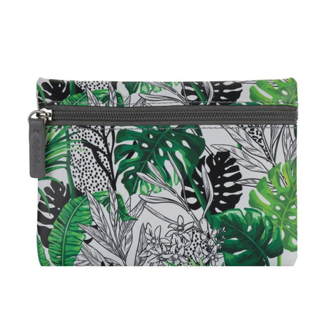 Coin Purse - Green Botanical