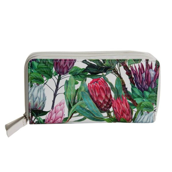 Two Zip Wallet - Queen Protea