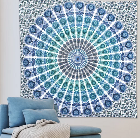 Ocean Breeze Mandala Throw