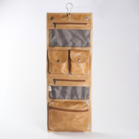 Roll Up Toiletry - Leather - Hazelnut