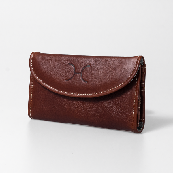 Ladies Leather Wallet - Tobacco
