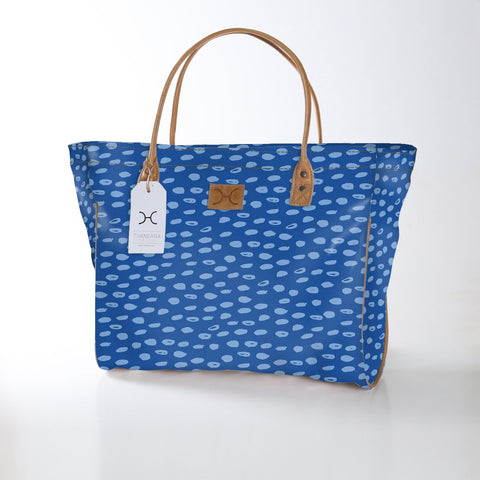Utility Shopper Bag - Seeds - Sky Blue