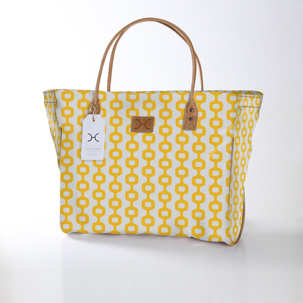 Utility Shopper Bag - Chain Reaction - Daffodil
