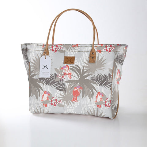 Utility Shopper Bag - Toucan Tango - Grey