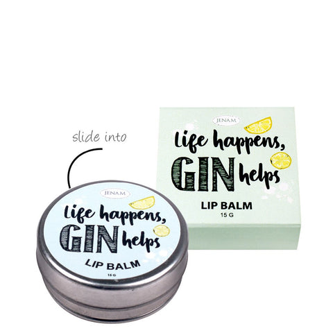 Life Happens, Gin Helps - Lemon Flavoured Lip Balm