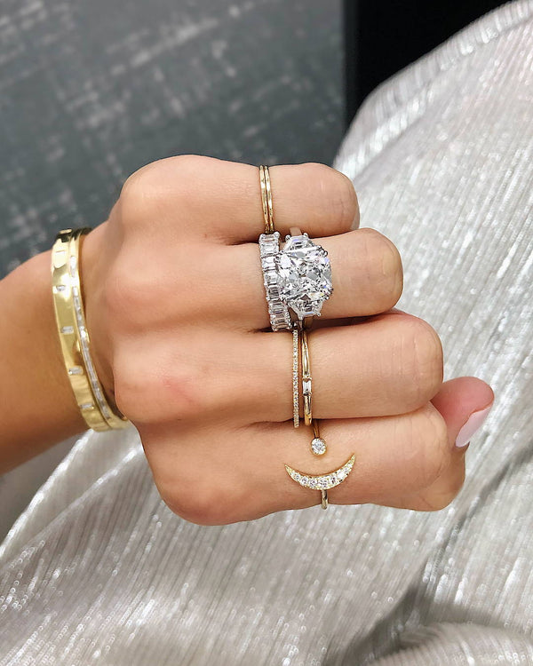 16 Striking Three-Stone Engagement Rings That Will Have You Sold on Side Stones
