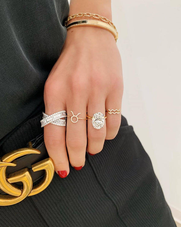 Why the Baguette Crossover Ring Is a Celeb-Favorite Statement Piece