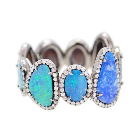 opal and diamond band