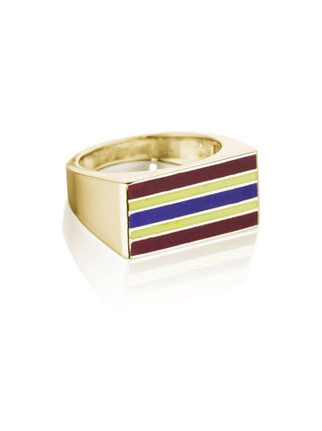 Jessica Biales Saxony Block Signet Ring