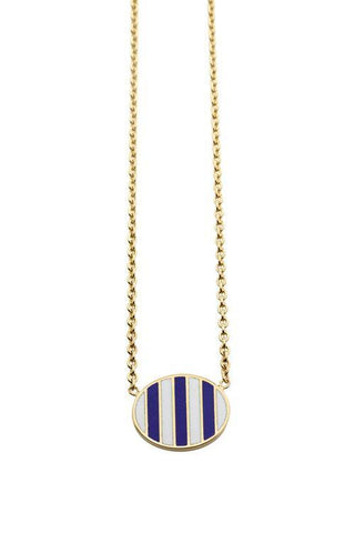 Jessica Biales Striped Pendant