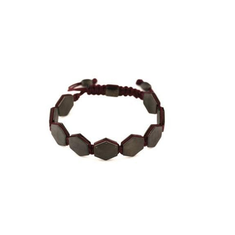 men's hexagon cord bracelet