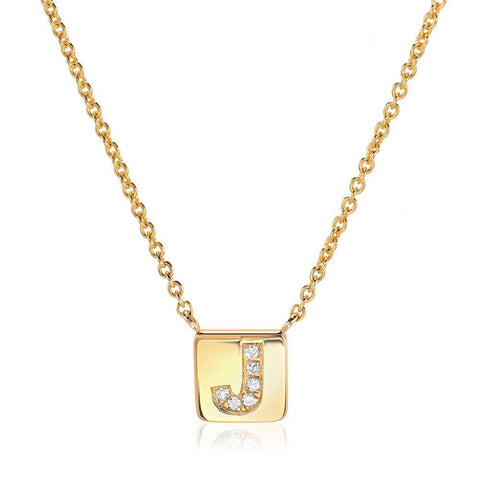 Liven Petite Initial Tag Necklace