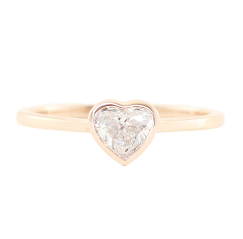 mini heart solitaire ring