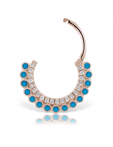 turquoise statement earring