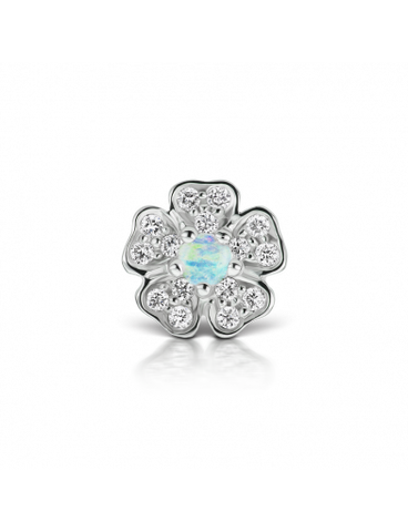 opal flower earring