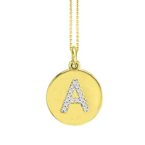 Maya J. Initial Disk Necklace