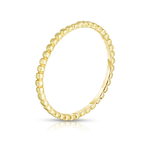 beaded stacking ring