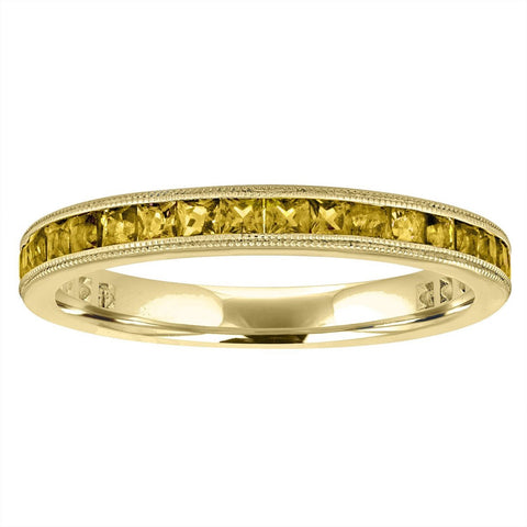 citrine eternity band