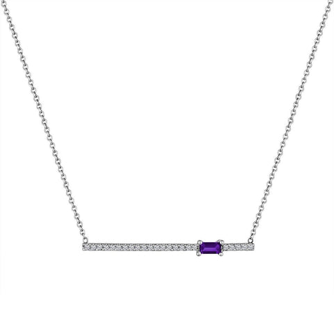 My Story Kate Diamond Gemstone Necklace Amethyst