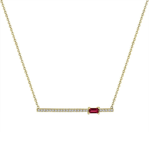 My Story Kate Diamond Gemstone Necklace Garnet