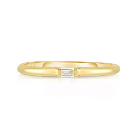 diamond baguette stackable ring