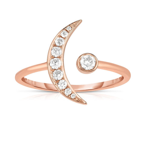 Ring Concierge Diamond Crescent Moon Ring