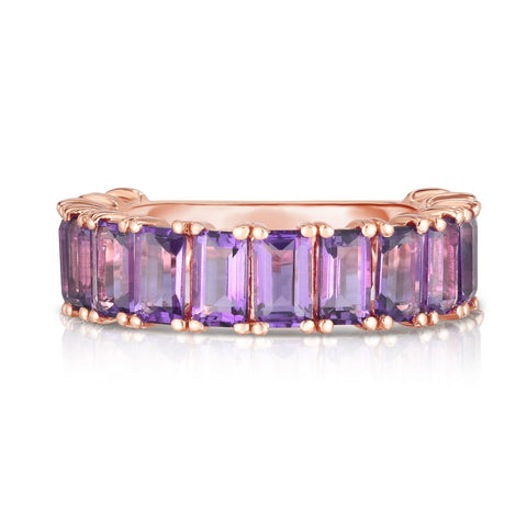 Ring Concierge Emerald Cut Amethyst Band