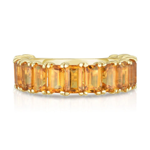 Ring Concierge Emerald Cut Citrine Band