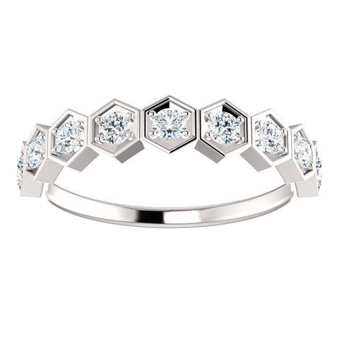 Ring Concierge Hexagon Diamond Band