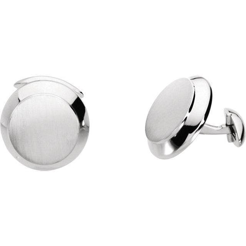 Ring Concierge Men's Round Cuff Links