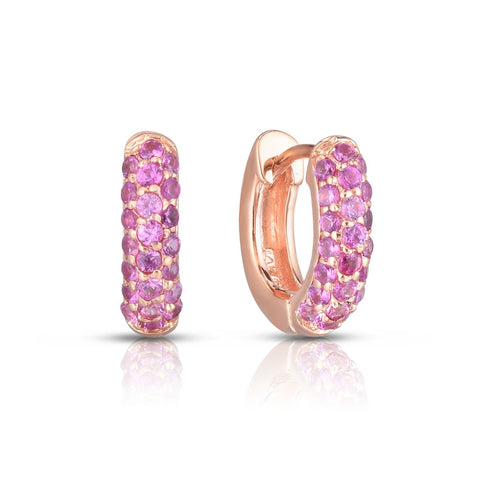 Ring Concierge Pink Sapphire Huggie