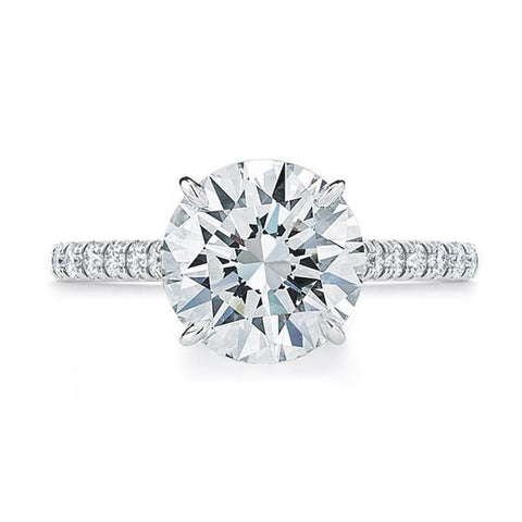 Ring Concierge Round Brilliant With Pavé Engagement Ring