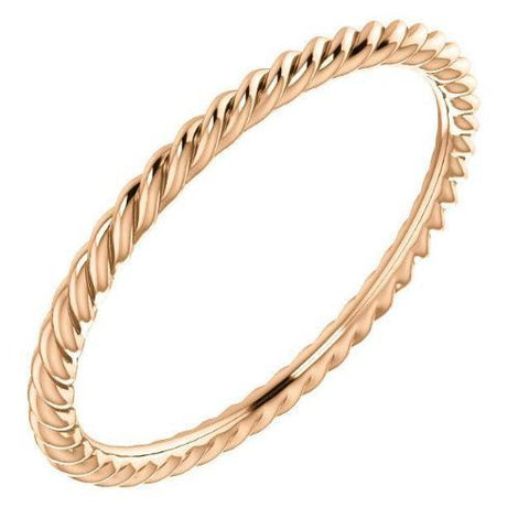 Ring Concierge Skinny Rope Eternity Band