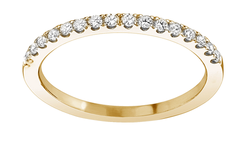 Ring Concierge Stackable Diamond Half Pavé Band