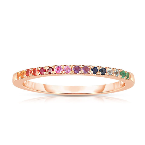 rainbow pave band