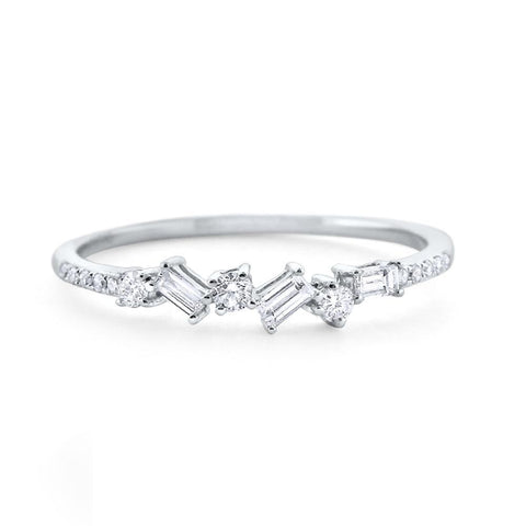 Ring Concierge Stacked Baguette Diamond Ring