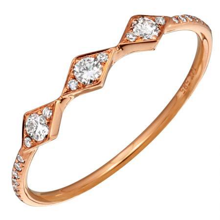 Ring Concierge Triple Diamond Kite Ring