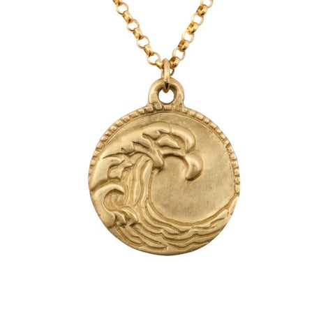 Susan Highsmith Ocean Wave Medallion Necklace