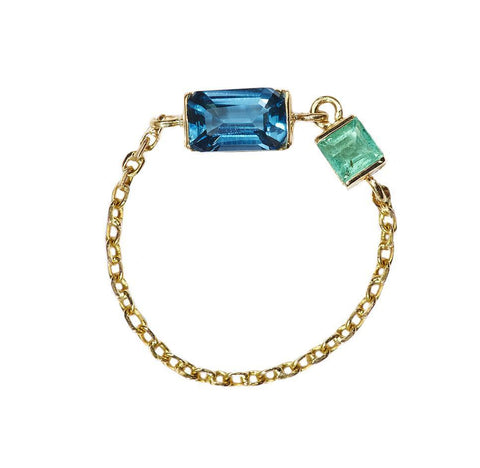 topaz chain ring