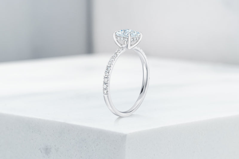 Vow Vow Engagement Rings Princess / Platinum / Hidden Halo Lexington