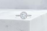 Vow Vow Engagement Rings Antique-Style Cushion / Platinum / Original Design Delancey