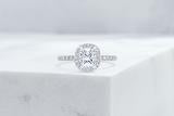 Vow Vow Engagement Rings Cushion / Platinum / Original Design Delancey