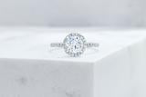 Vow Vow Engagement Rings Antique-Style Round / Platinum / Original Design Delancey