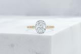 Vow Vow Engagement Rings Oval / 14K Yellow Gold + Platinum Prongs / Original Design Delancey