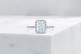 Vow Vow Engagement Rings Radiant / Platinum / Original Design Delancey