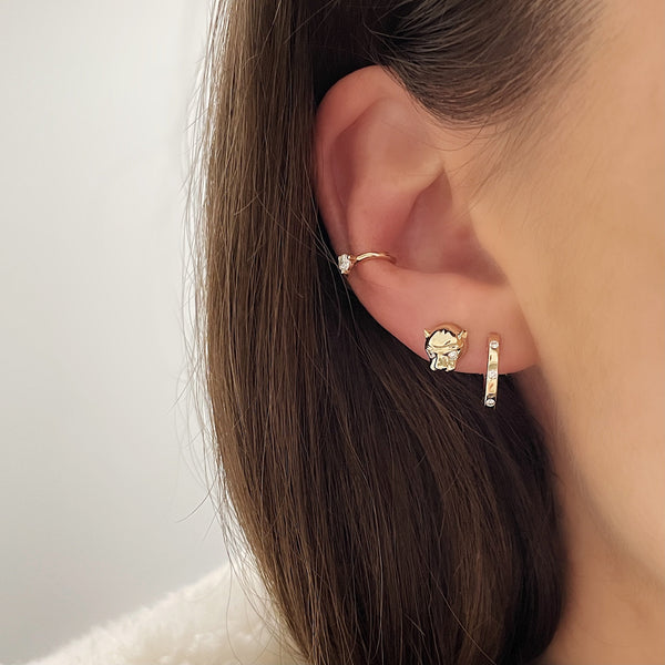 Ring Concierge Earrings Gold Panther Studs