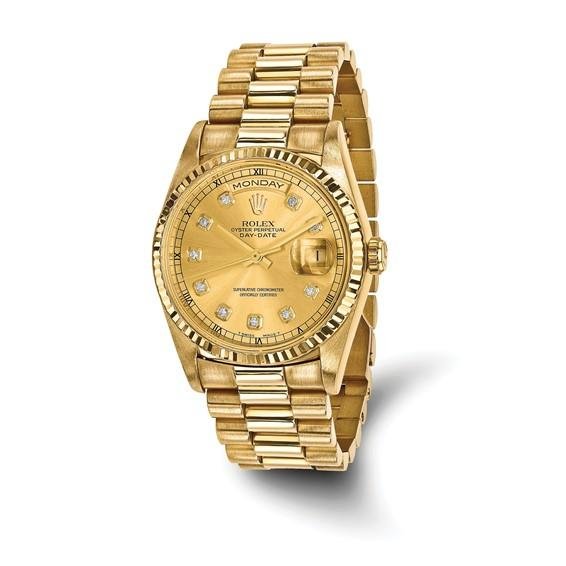 Ring Concierge Rolex Day-Date Diamond President - 36 mm, 18K Yellow Gold (Pre-Owned)