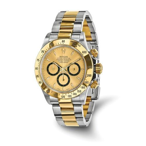 Cosmograph Daytona - 40mm, Oystersteel & 18K Yellow, Champagne Dial (Certified Pre-Owned) - Ring Concierge